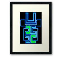 Neon Robot Framed Print