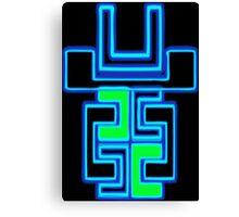 Neon Robot Canvas Print