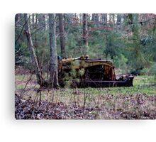 Old Rustic Bulldozer Canvas Print