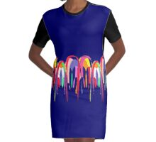 Hot Air Balloons Graphic T-Shirt Dress