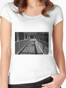 Walking The Lines Women's Fitted Scoop T-Shirt