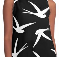 Swallows Flying Contrast Tank