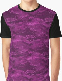 Hot Pink Digital Camo Camouflage Graphic T-Shirt
