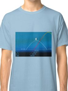 moon phase on a smartphone display Classic T-Shirt