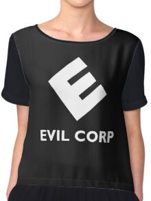 Mr. Robot Evil Corp Logo Chiffon Top