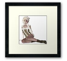 Blond Woman. Steampunk Art Framed Print
