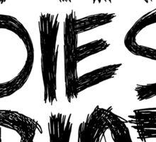 If Carl dies we riot - Black Edition Sticker