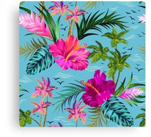 Hello Hawaii, a stylish retro aloha pattern. Canvas Print
