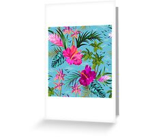 Hello Hawaii, a stylish retro aloha pattern. Greeting Card