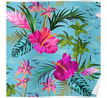 Hello Hawaii, a stylish retro aloha pattern. Poster