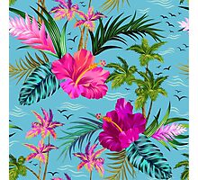 Hello Hawaii, a stylish retro aloha pattern. Photographic Print
