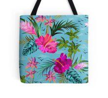 Hello Hawaii, a stylish retro aloha pattern. Tote Bag