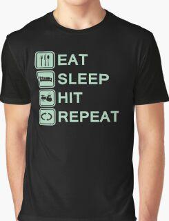 Drummer Routine (green) Graphic T-Shirt