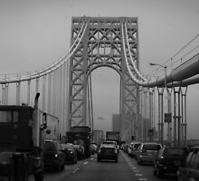 George Washington Bridge Traffic  by andreaanderegg