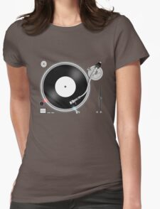 TURNTABLE Womens Fitted T-Shirt