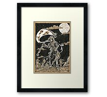 Death Of Planet RUST Framed Print