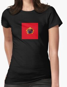 Red Tulip Polka Dots Womens Fitted T-Shirt