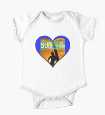Surf Heart One Piece - Short Sleeve