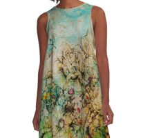 Flower Paper 1 A-Line Dress