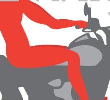 Ride Naked! Sticker