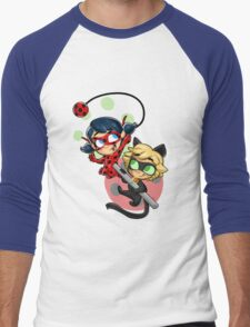 Ladybug and Chat Noir! Men's Baseball ¾ T-Shirt