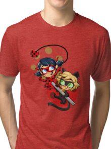 Ladybug and Chat Noir! Tri-blend T-Shirt
