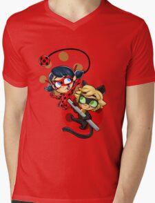 Ladybug and Chat Noir! Mens V-Neck T-Shirt