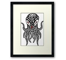 Tribal Cthulhu Framed Print