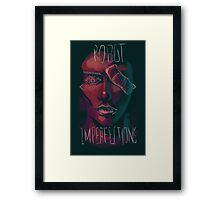 Robot Imperfections Framed Print