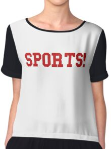 Sports - version 5 - red Chiffon Top