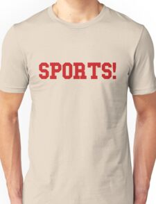 Sports - version 5 - red Unisex T-Shirt