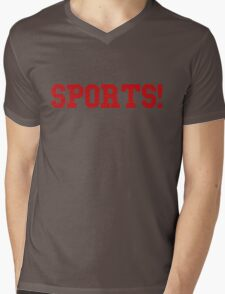 Sports - version 5 - red Mens V-Neck T-Shirt