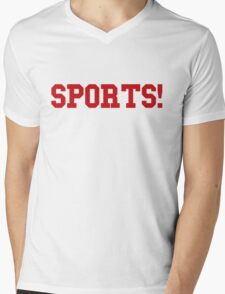 Sports - version 5 - red Mens V-Neck T-Shirt