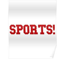 Sports - version 5 - red Poster