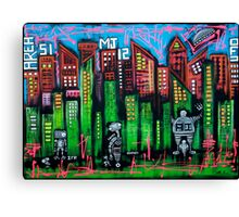 Robo World - City of Secrets Canvas Print