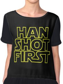 Han Shot First. Chiffon Top