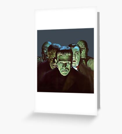 Gang of Monsters  Greeting Card