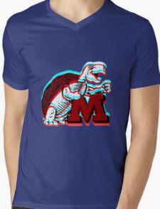 UMD -retro logo Mens V-Neck T-Shirt