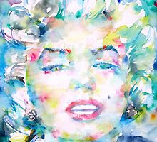 MARILYN MONROE - watercolor portrait by lautir