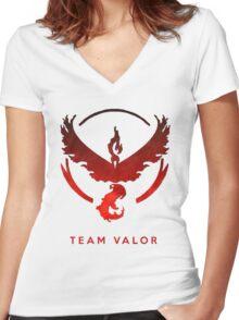 Pokemon Go - Team Valor Women's Fitted V-Neck T-Shirt