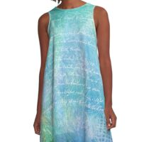 Blue Green Time A-Line Dress