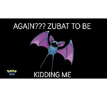 Pokemon Go Zubat Photographic Print