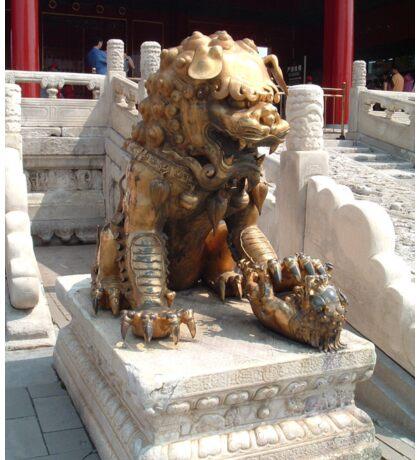 Bronze lion in The Forbidden City Sticker