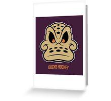 DUCKS HOCKEY Greeting Card
