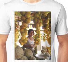The Girl in the Santarem Brazil Market Unisex T-Shirt