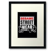 Sesame Street Wear Framed Print
