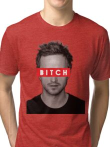 Jesse Pinkman - Bitch. Tri-blend T-Shirt