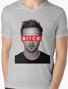 Jesse Pinkman - Bitch. Mens V-Neck T-Shirt