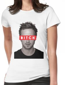 Jesse Pinkman - Bitch. Womens Fitted T-Shirt