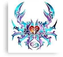 Cancer Astrology Season Gear Canvas Print